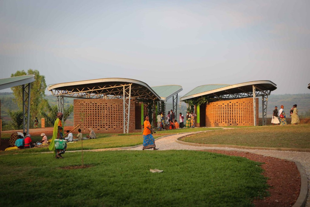 The Women's Opportunity Center, Kayonza, Rwanda is designed like mini-village, in a series of pavilions in the landscape. (Photo courtesy Sharon Davis Design)