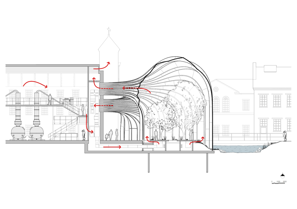 Cross section. (Image: Heatherwick Studio)