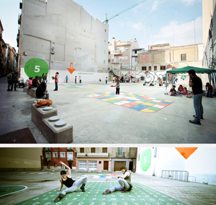 San Augustin 25 was turned into a children's playground of 500 square metres for 11,200 euros.