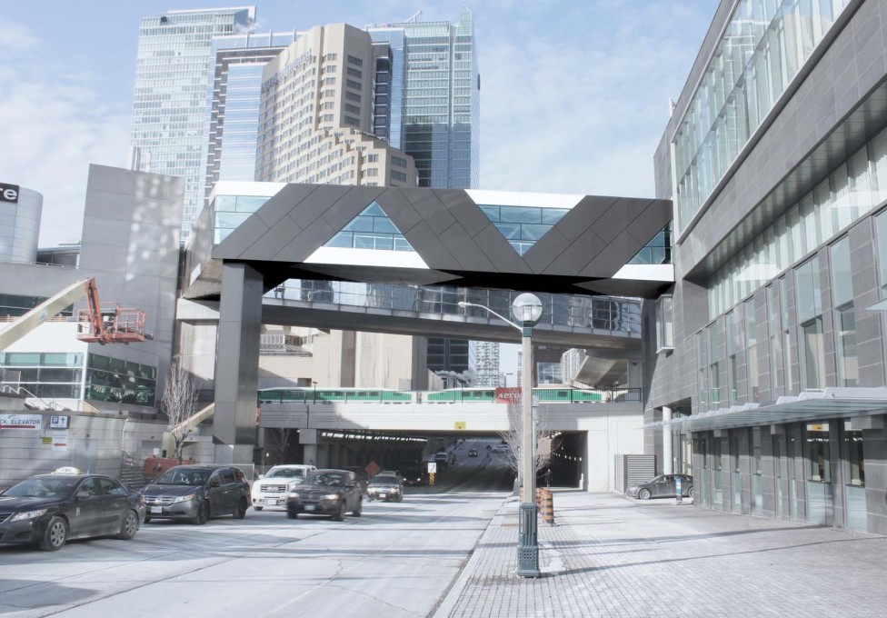 ...to create pedestrian connections over rail lines and above expressways in the area south of Union Station.