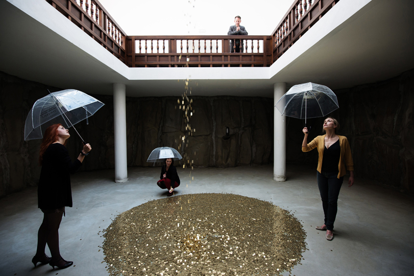 Sifting through mounds of information and looking for gold - sounds like my inbox. Also like Vadim Zakharov's Russian Pavilion at the 2013 Venice Biennale. (Photo: Daniel Zakharov)