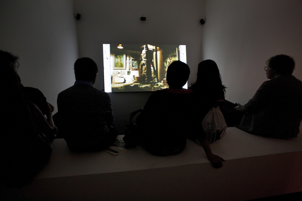 "Installation view of Ed Atkins' video: ""The Trick Brain"", 2012, filmed in André Breton's apartment before all its contents were auctioned. (Photo: Francesco Galli, Courtesy la Biennale di Venezia) &"