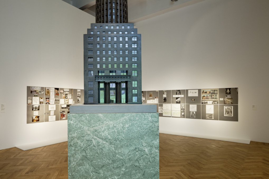 ...for instance, through the new photographs of Hollein's buildings taken by Aglaia Konrad and Armin Linke.