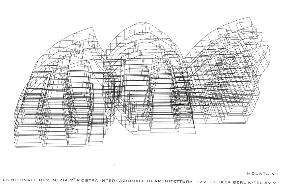 "A three dimensional working drawing shows the depth of the ""Mountains""."