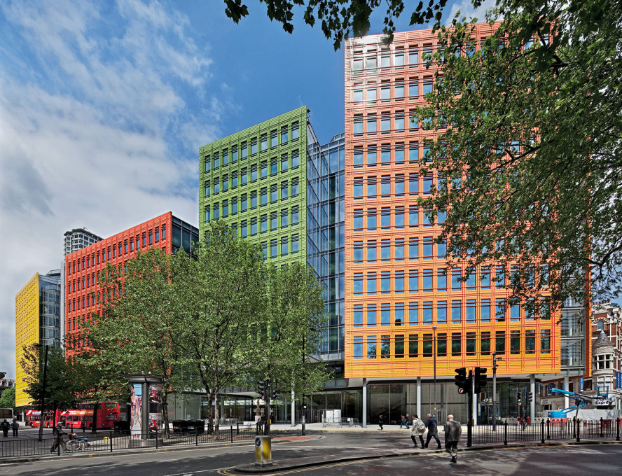 Central St Giles Court by Renzo Piano Building Workshop, London, 2010 (Image: ©Renzo Piano Building Workshop)