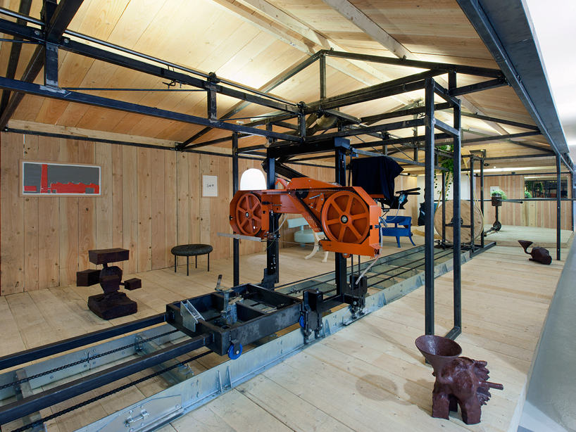 """Manufactuur"" (2013) turned Grimm Gallery into a farmhouse full of machines powered by humans."