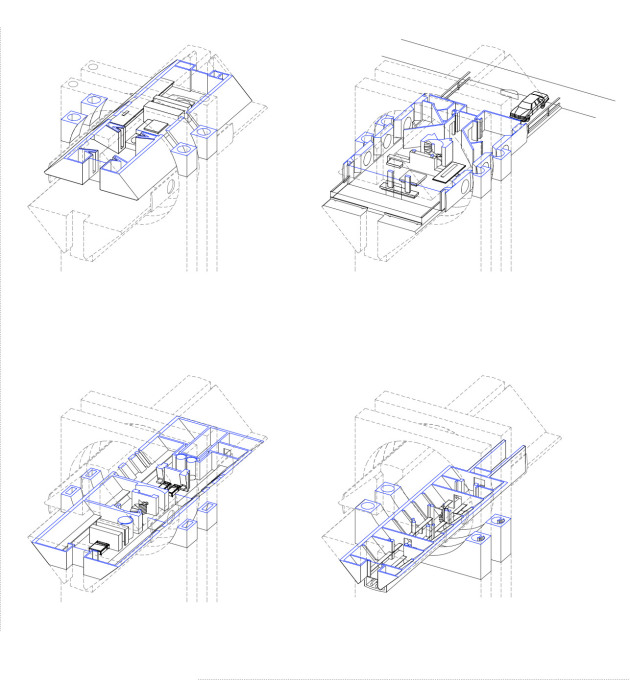 Axonometric projection of site plan.