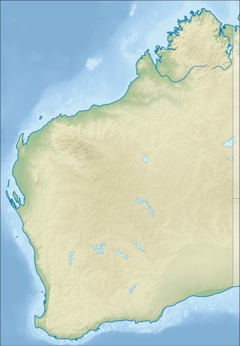 Relief Map of Western Australia. (Image: Tentotwo, courtesy Wikimedia Commons)