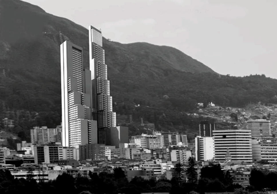 A tale of two towers: a visualisation of BD Bacatá in Bogotá, the first crowd-funded skyscraper (Image: Prodigy Network)