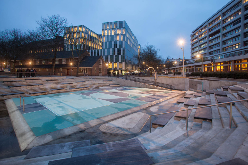 Looks like rain? The Water Square in Rotterdam, designed by De Urbanisten. (Photo © Pallesh+Azarfane)