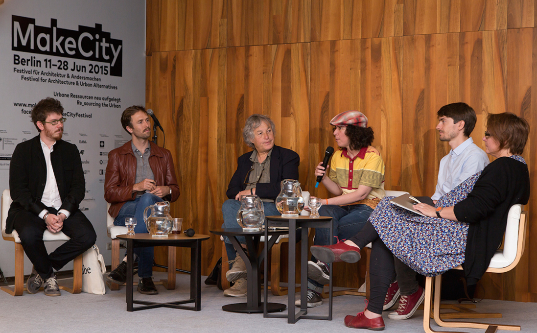 "Meanwhile, panel discussions have debated the festival's core themes, such as the ""Defining Commons, Designing Commons"" session, chaired by Ethel Baraona Pohl. (Photo: © Berlin Camera)"