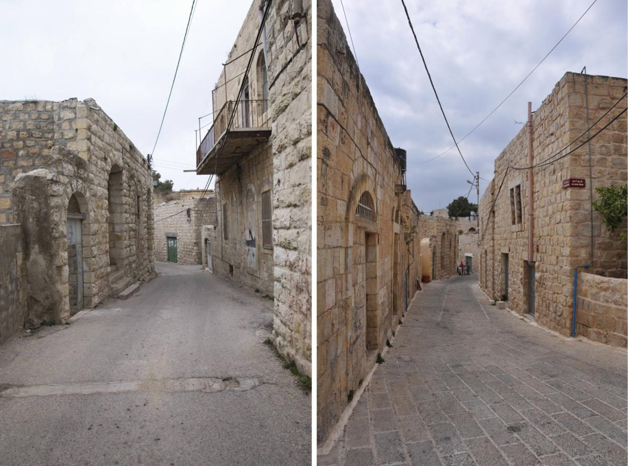 Also a prize winner, the Birceit revitalization project in Palestine, directed by the NGO RIWAQ. (Photo before/after: RIWAQ)