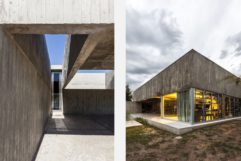 The house has a basic framework of exposed concrete cubes. (Photo: Walter Salcedo, Courtesy Estudio Aire)