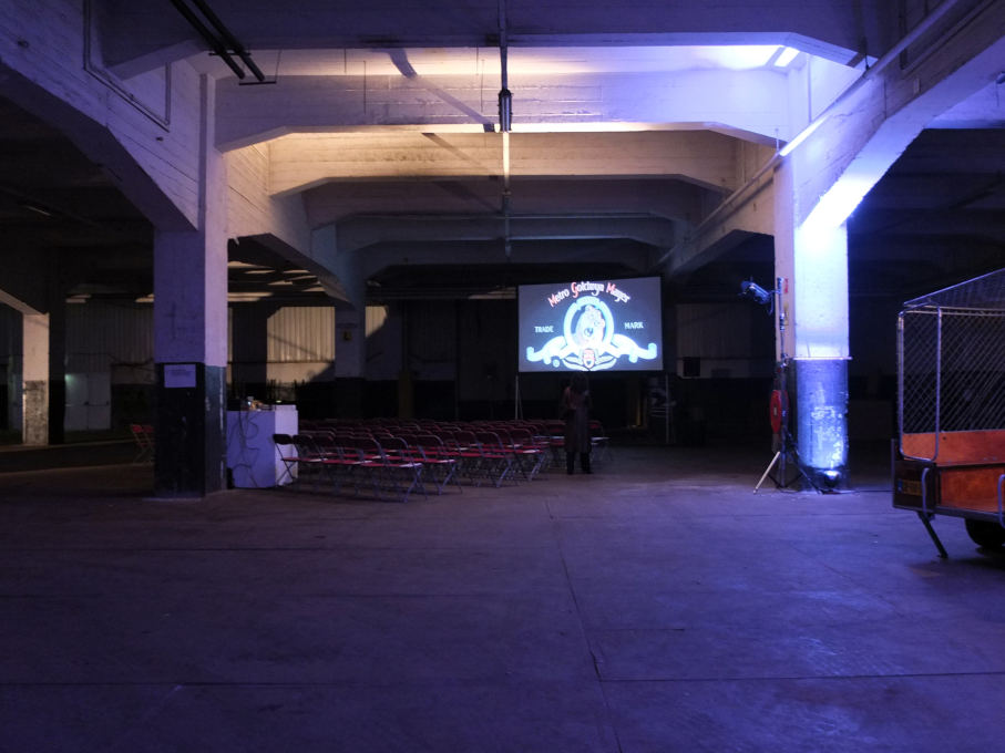 The vast industrial hall was scattered with artistic installations inspired by the featured films, providing a special architectural atmosphere. (photo: Cristina Ampatzidou)