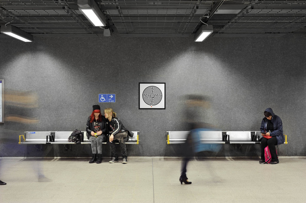 """Labyrinth"", Mark Wallinger, Network wide London Underground, Commissioned by Art on the Underground, 2013. (Photo: Thierry Bal)"