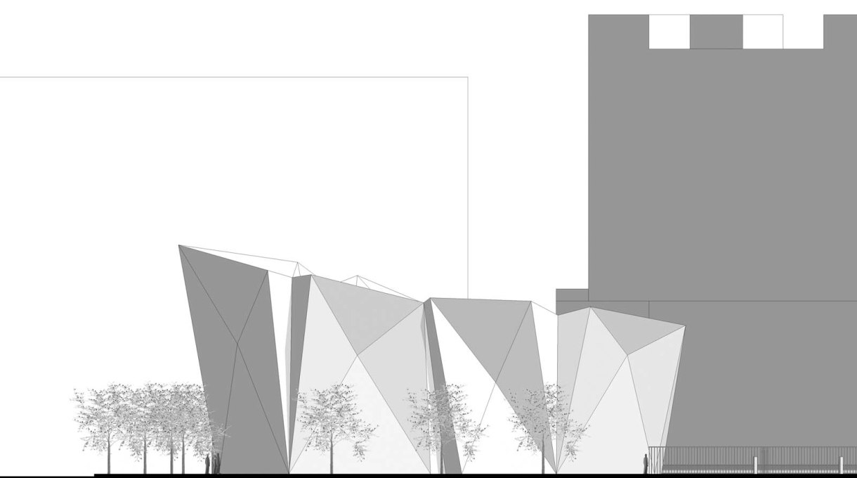 Section view showing elevation from Canal Street. (Image: Dattner Architects)