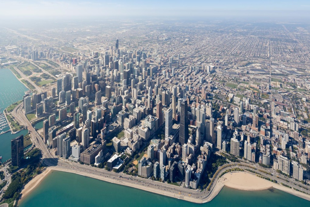 Chicago from the air: from Iwan Baan's Chicago Photo Essay. (Photo: Iwan Baan 2015, courtesy of Chicago Architecture Biennial)