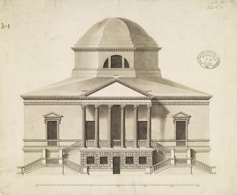 Chiswick House by Lord Burlington, 1729. (Image © RIBA Collections)