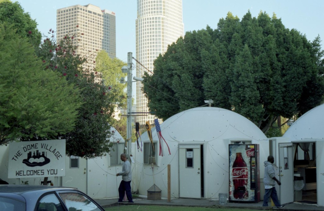 Dome Village: a self-organised homeless settlement in the middle of LA. (Photo: Oliver Croy)