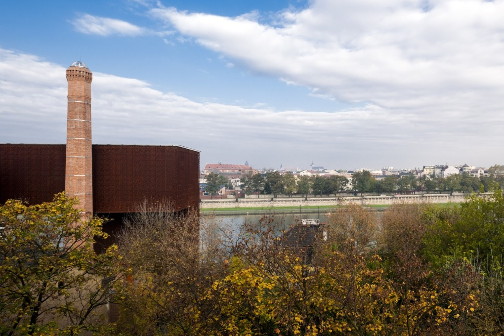 The site's location' away from the historic Old Town' is an example of the local government's push to develop Krakow's post-industrial right bank.