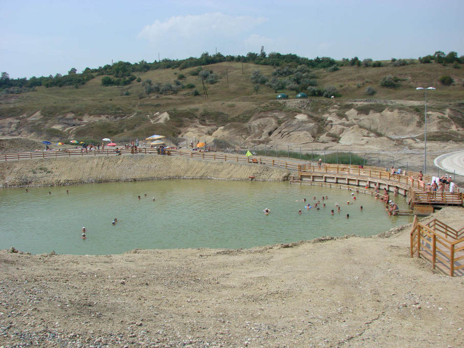 One of the Durgau mineral water lakes nearby the mine. (Photo courtesy Contact Studio)