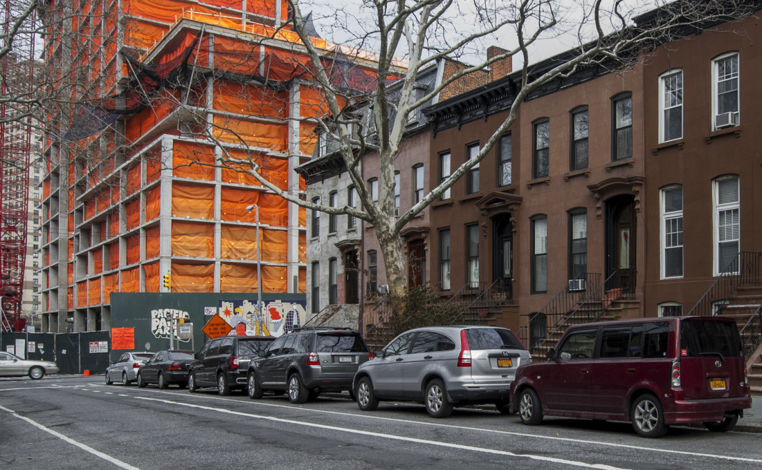 A slew of high-rise residential structures are going up, changing the fabric of the neighbourhood in stark contrast to its historic terraces.