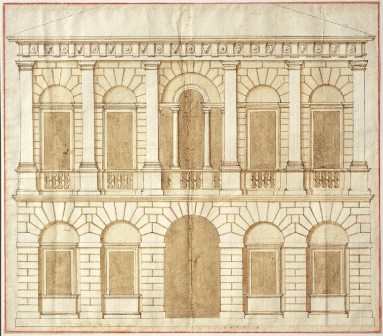 Design for a palace by Andrea Palladio, c.1540. (Image © RIBA Collections)