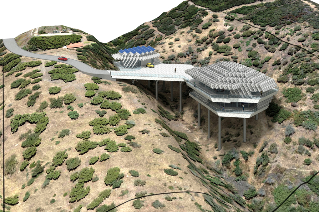 Pearce Ecohouse rendering, Santa Monica Mountains, Los Angeles County. (© Peter Jon Pearce)