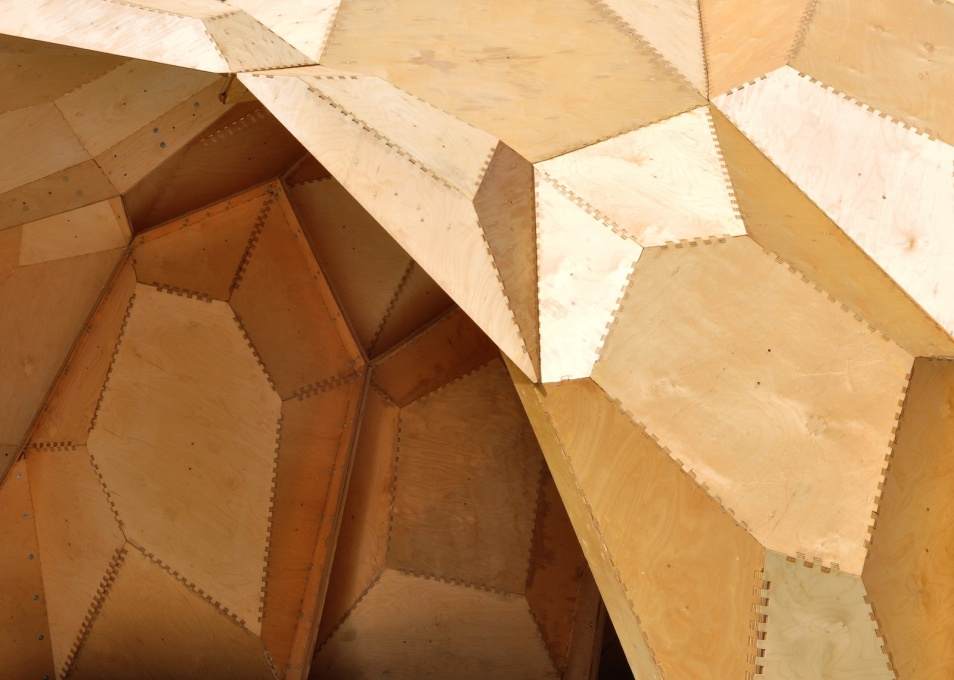 Close-up of the ICD/ITKE Research Pavilion's skin, 2011.