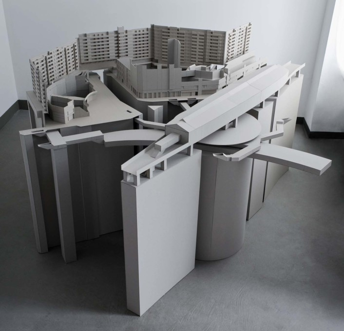Fassler has also produced cardboard models of the publicly accessible space found at NKZ and it surroundings. (Kotti, 2008.)