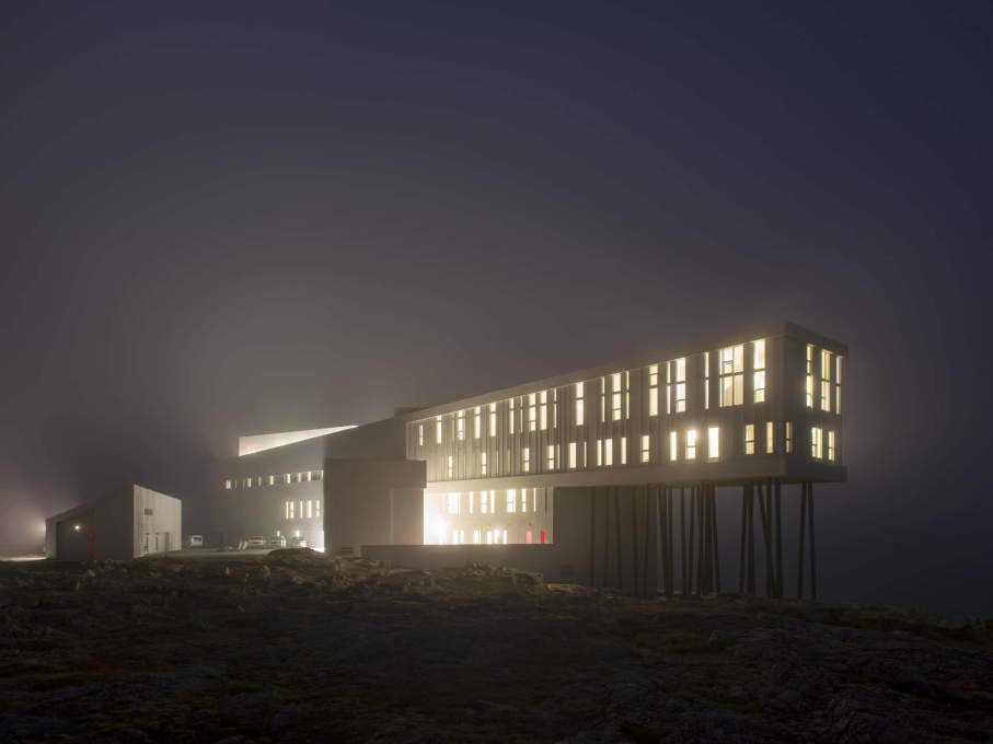 On a cold, damp night, the Inn is a welcoming beacon in the unforgiving Newfoundland landscape. (Photo: Alex Fradkin)
