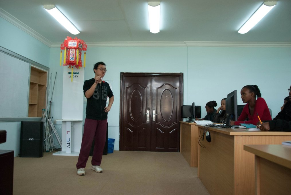 Chinese class, Confucius Institute, Nairobi. (Photo: Michiel Hulshof & Daan Roggeveen)