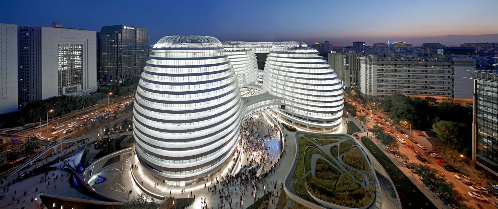 The lights are on but no one's home. The Galaxy Soho looking more CGI than... (Photo: Hufton + Crow)