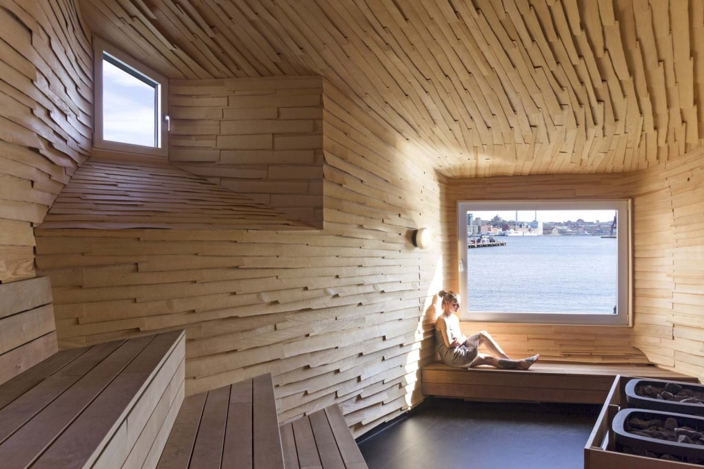 ...that's why the window is so important to the interior of the sauna.