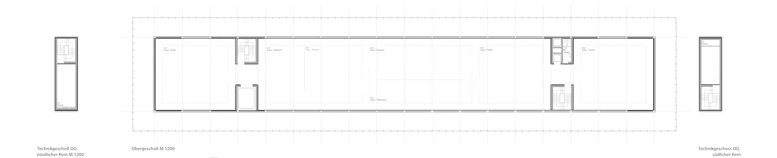 A study in contrasts 1: the first floor gallery plan of the Gonzalez Hinz Zabala design.