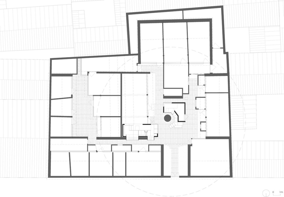 Plan of Cha'er Hutong No. 8, Beijing.