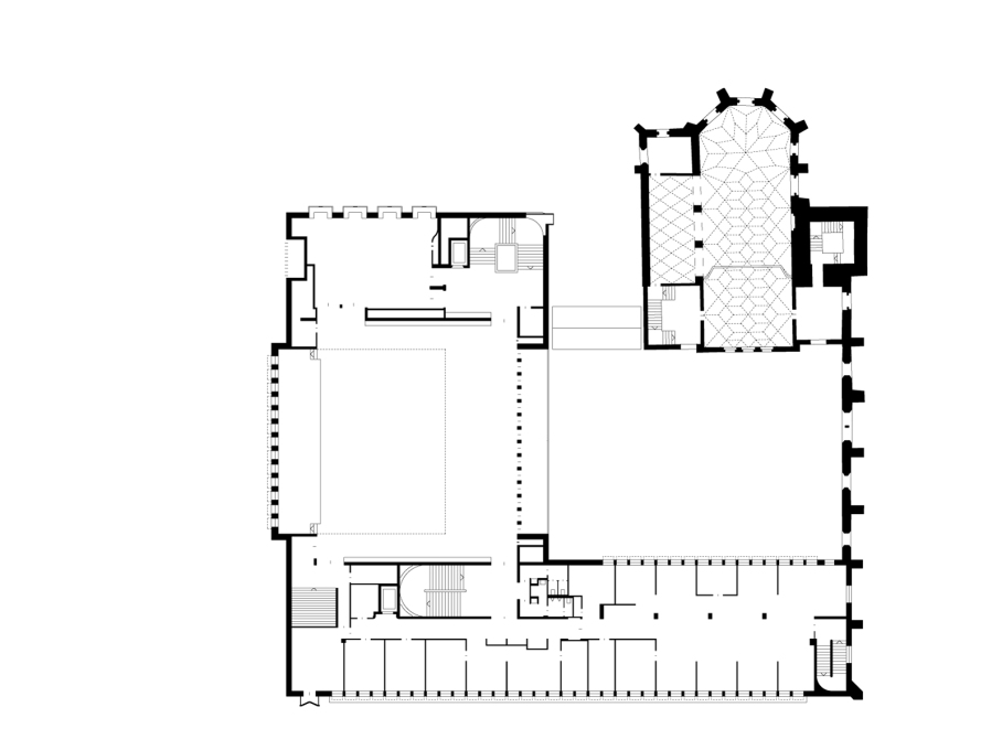 First floor plan. (Drawing: Lederer Ragnarsdóttir Oei Architects)