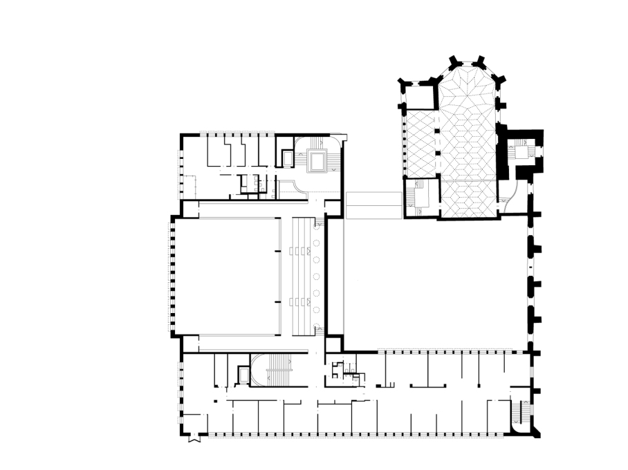 Second floor plan. (Drawing: Lederer Ragnarsdóttir Oei Architects)