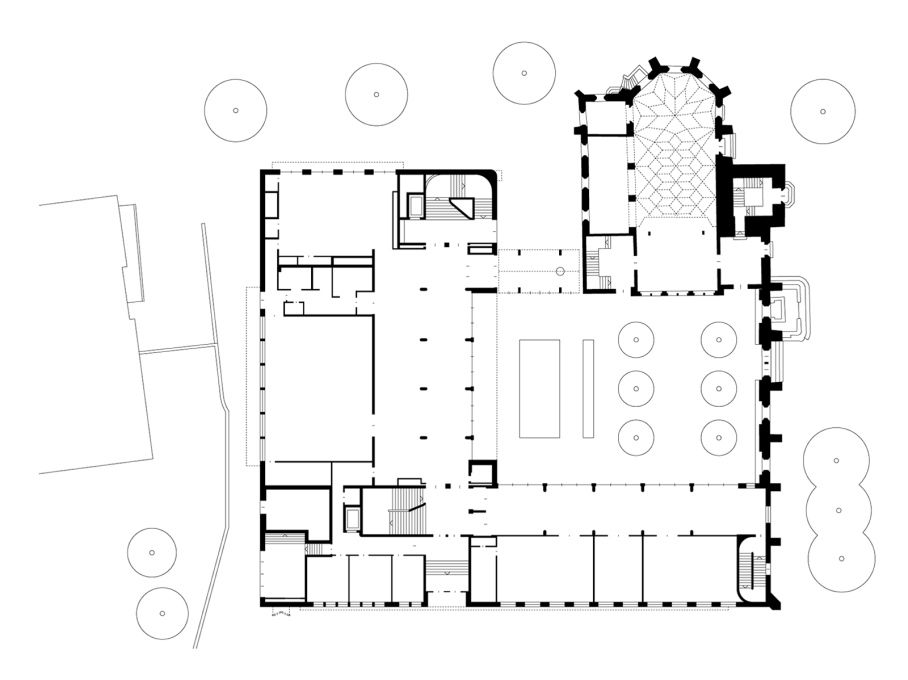 Ground floor plan. (Drawing: Lederer Ragnarsdóttir Oei Architects)