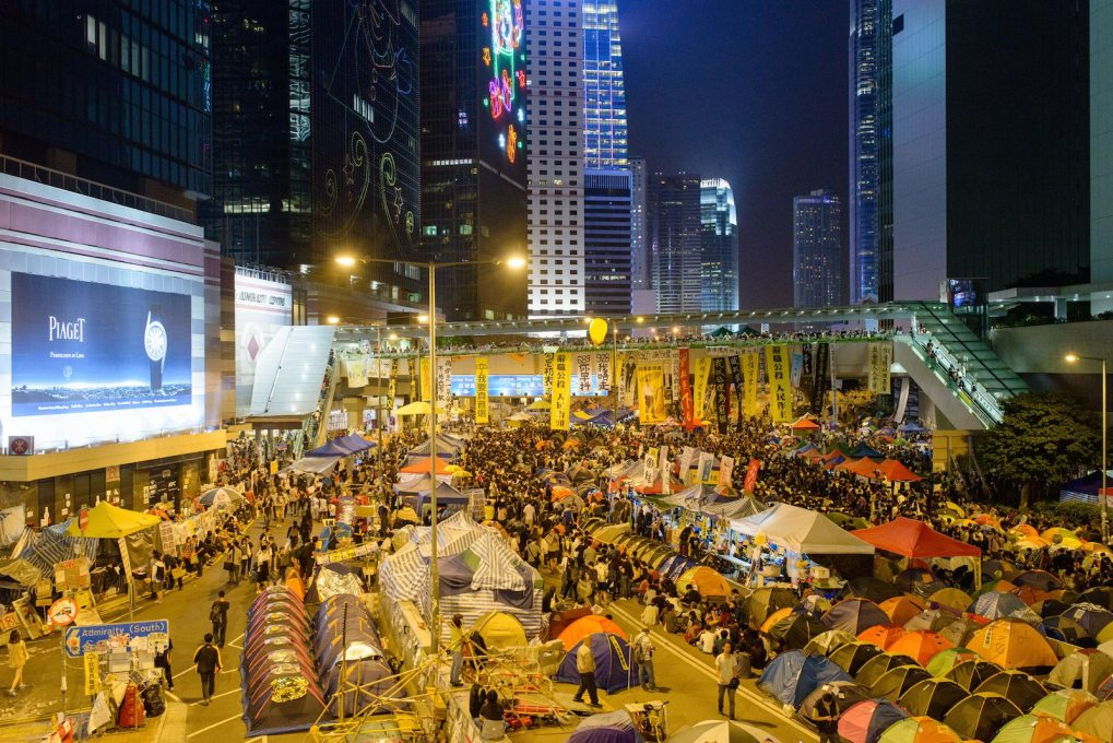 But the festival's key questions and focus upon civic empowerment have relevance in cities the world over, from Hong Kong's Occupy movement… (Photo: © Marc Latzel)