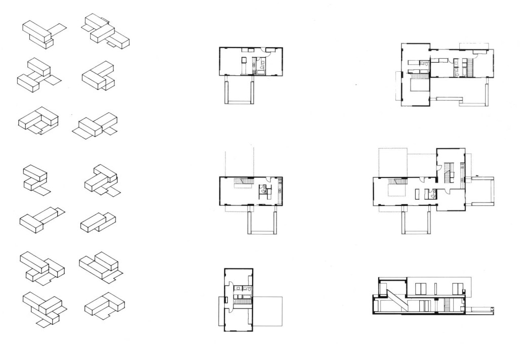 Alternative possible configurations for the housing units.