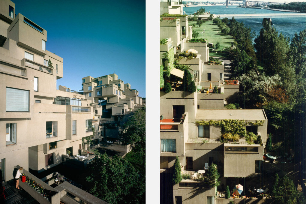 The Spirit of 67: terraced gardens of Habitat in use. (Photos: Timothy Hursley; Sam Tata)