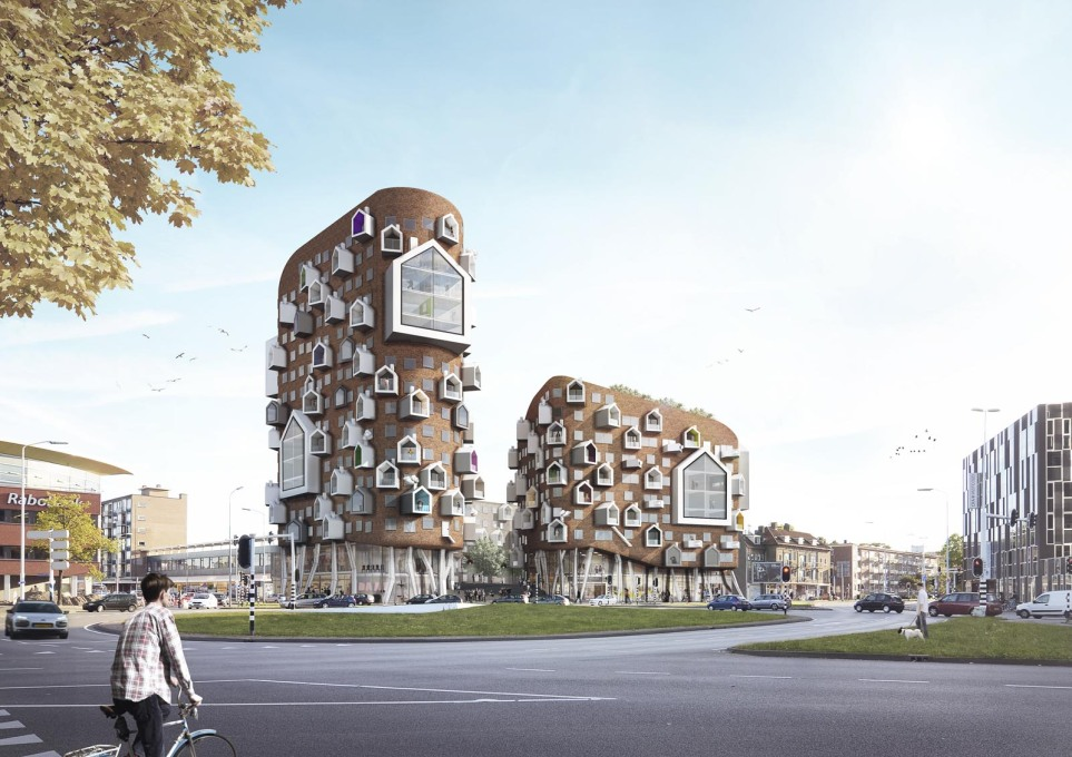 The losing housing scheme by ...Van Aken Architecten too. Hmmm.