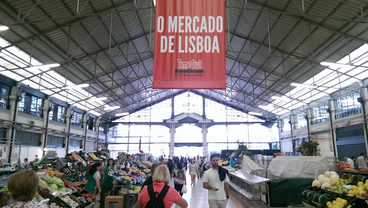 The Mercado da Ribeira in Lisbon, Portugal was renovated by Time Out and reopened in 2014. While the eastern hall is still used for the sale of fruits and vegetables... (Photo: Jason Hilgefort)