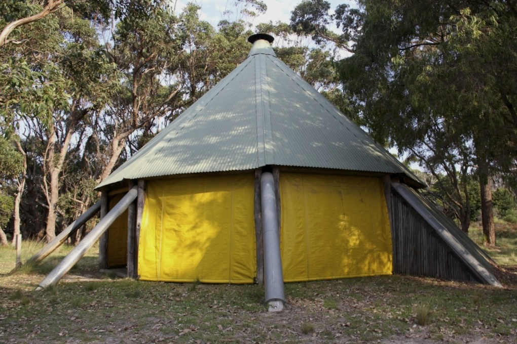 Designed as a permamnent tent, The Barn's architecture is a direct response to its surrounding environment. (Photo courtesy Heritage Division, NSW Office of Environment and Heritage)