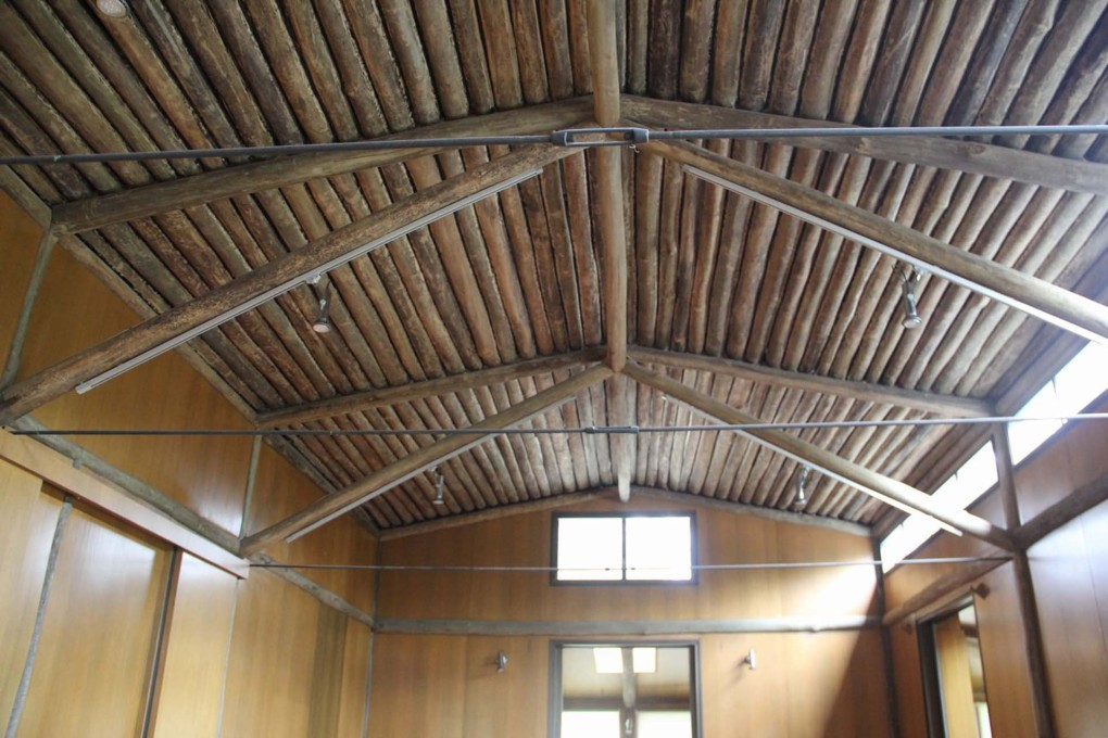 The typically Melbourne vernacular of exposed rafters and wide eaves can been seen inside the single storey house. (Photo courtesy Heritage Division, NSW Office of Environment and Heritage)