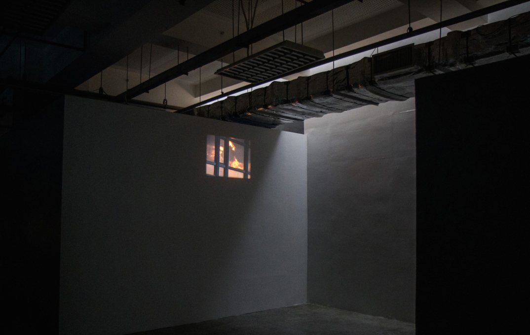 "Installation view of Tacita Dean's ""Palast"", (2004). (Photo by Joaquin Talan, courtesy of the Benildean Press Corps)"