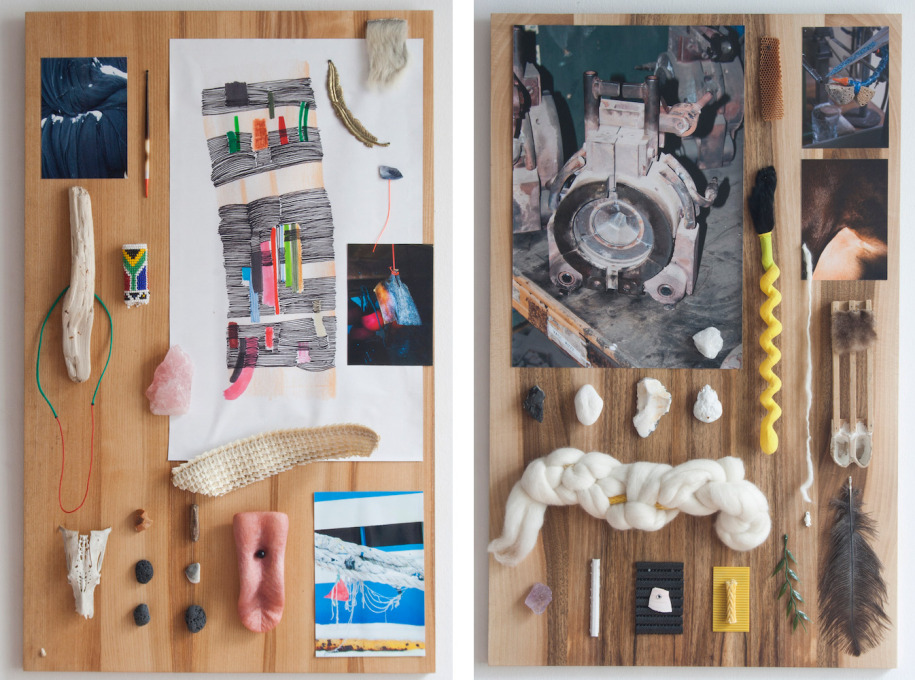 """Study Boards"", 2015, is an ongoing arrangement of drawings, photos and found objects assembled to suggest a storyline."