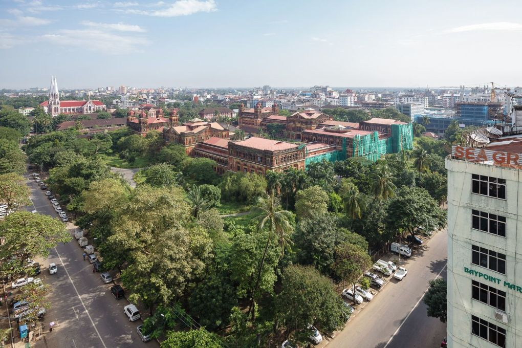 Another view of Yangon, with a major landmark from the colonial-era, the Secretariat. Built after the Third Anglo–Burmese War, it became the beating heart of the British colonial administration. A full renovation is planned.