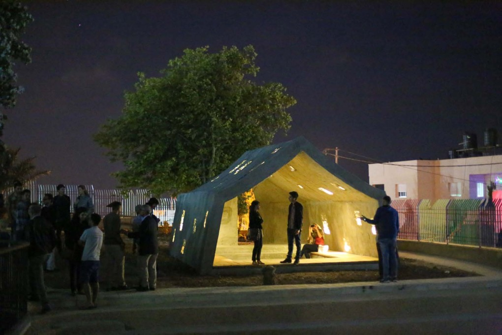 """Concrete Tent"" used for meetings... (Photo: Sara Anna/Campus in Camps)"